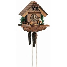 "10"" Chalet Cuckoo Clock with Woodchopper"