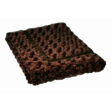 Swirl Mink Trundle Dog Blanket in Brown