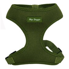 Ultra Comfort Mesh Dog Harness Vest in Olive Green