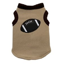 Football Dog Sweater Vest in Tan