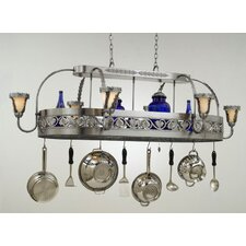 Leaf Chandelier Pot Rack with Shade