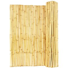 "Natural Rolled Bamboo Fence 3/4"" D X 6' H X 8' L"
