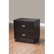 Manhattan 2 Drawer Nightstand