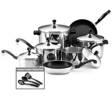 Classic Stainless Steel 15-Piece Cookware Set