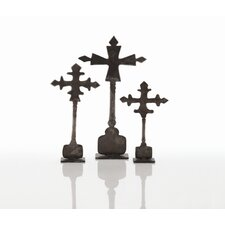 Ivan 3 Piece Cross Sculpture Set