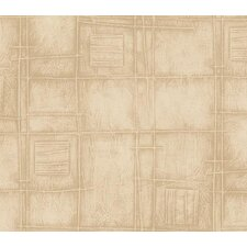 Whimsical Children's Vol. 1 Tonal Squares Wallpaper in Beige