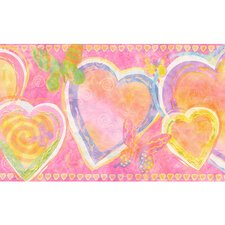 Whimsical Children's Vol. 1 Heart Border in Hot Pink