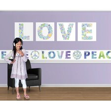 Peace and Love Mural Style Border