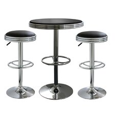 3 Piece Soda Fountain Style Bar Set