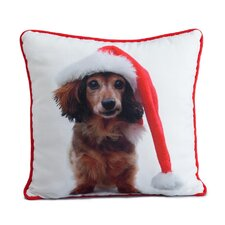 Holiday Daschund Pillow