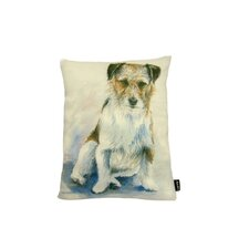 Lava Jack Russel Watercolor Feather Filled Pillow