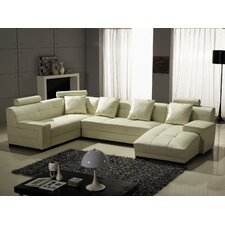 Right Leather Sectional