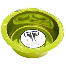Embossed Rim Dog Bowl in Corona Lime
