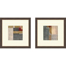 Contemporary Blue Jeans Framed Art (Set of 2)