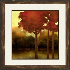 Fluffy Trees Framed Wall Art (Set of 2)