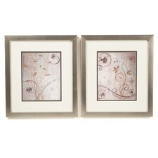 Botanical Spring Meadow Framed Art (Set of 2)