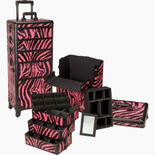 Professional 4-1 Rolling Makeup Case