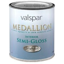 1 Quart Clear Base Medallion 100% Acrylic Interior Paint Semi Gloss