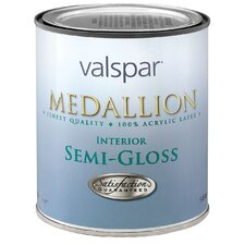 1 Quart Custom White Medallion 100% Acrylic Interior Paint Semi Gloss