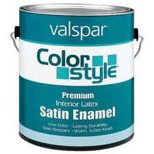 1 Gallon Clear Base ColorStyle® Interior Latex Satin Enamel Wall P