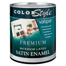 1 Quart White ColorStyle® Interior Latex Satin Enamel Wall Paint 4