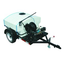 2500 PSI Cold Water Gas Trailer Mounted Pressure Washer with 6.5 HP Honda Engine