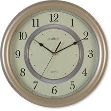 Caliber Case Wall Clock in Classy Brown