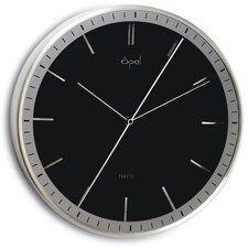 Opal Aluminium Case Dial Clock in Shiny Black