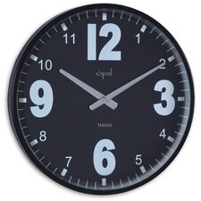 Caliber Steel Case Stylish Clock in Black