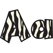 Fun Font Letters Zebra 4in