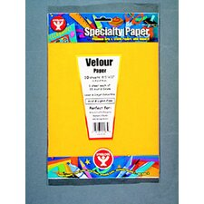 Velour Paper 20 Sht 2 Each Of 10