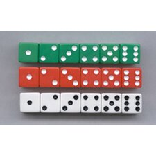 Dot Dice 6 Each Of Red White & (Set of 18)