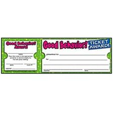 Good Behavior Ticket Awards