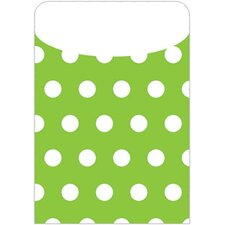 Brite Pockets Grn Polka Dots 25/bag