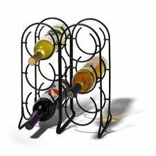 Horseshoe 6 Bottle Tabletop Wine Rack