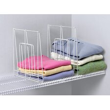 Closet Organization Large Ventilated 2 Pack Shelf Divider in White