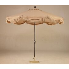 9' x 8 LED Light Scallop Market Umbrella