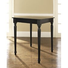 Turned Leg Pub Table in Black