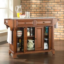 Newport Kitchen Island with Granite Top