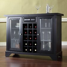 LaFayette Sliding Top Bar Cabinet in Black