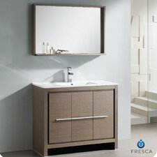 "Allier 39.5"" Modern Bathroom Vanity Set with Mirror"