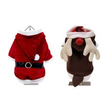 Holiday Reversible Santa and Reindeer Suit