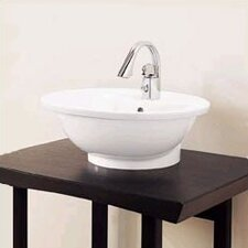 L' Expression Round Vessel Bathroom Sink