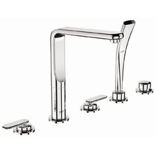 Veris Volume Control Roman Tub Faucet with Personal Hand Shower