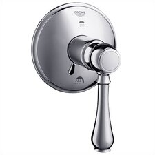 Geneva Three Port Diverter Trim with Lever Handle in Chrome