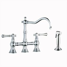 Bridgeford Double Handle Widespread Bridge Faucet