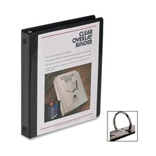 "Standard View Binder, 1/2""Capacity, 8-1/2""x11"", Black"