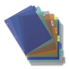 "Poly Index Dividers, Inserts, 8-1/2""x11"", 8-Tab, Multi"