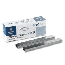 "Standard Staples,Chisel Point,1/2"" W,1/4""L,210 Strip"