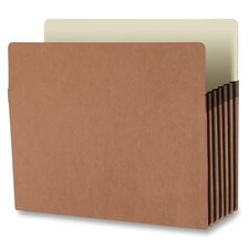 "File Pocket, 5-1/4"" Exp., Letter, 10 per Box, Redrope"